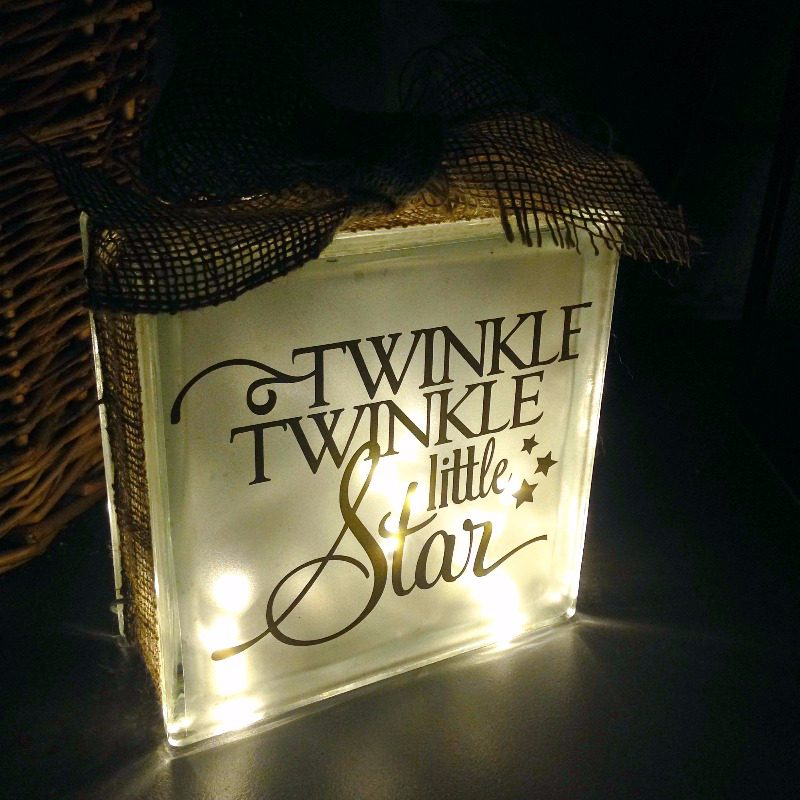 childrens twinkle twinkle personalised night light