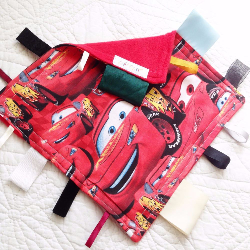 Disney Cars Lightening McQueen baby  Taggy Blanket
