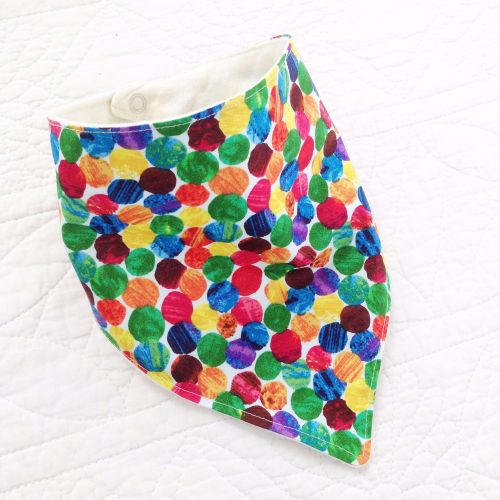 The very hungry caterpillar Spotty  baby bandana dribble bib
