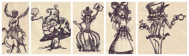 alice wonderland collage