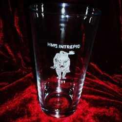 PINT GLASS HMS INTREPID