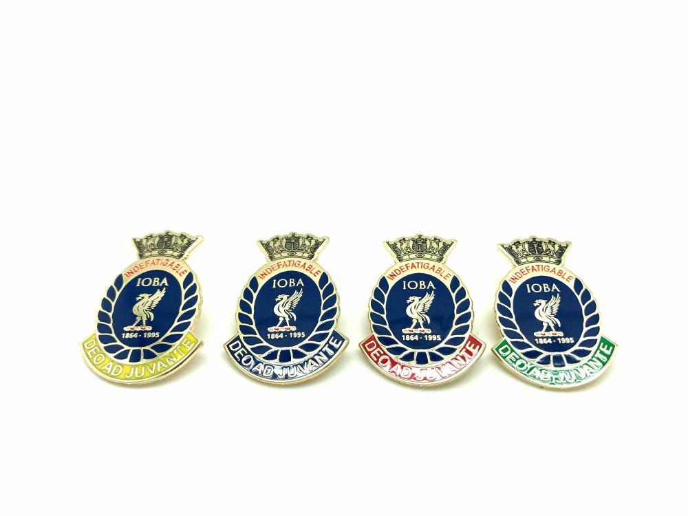 Indefatigable old boys association divisional badges set of four