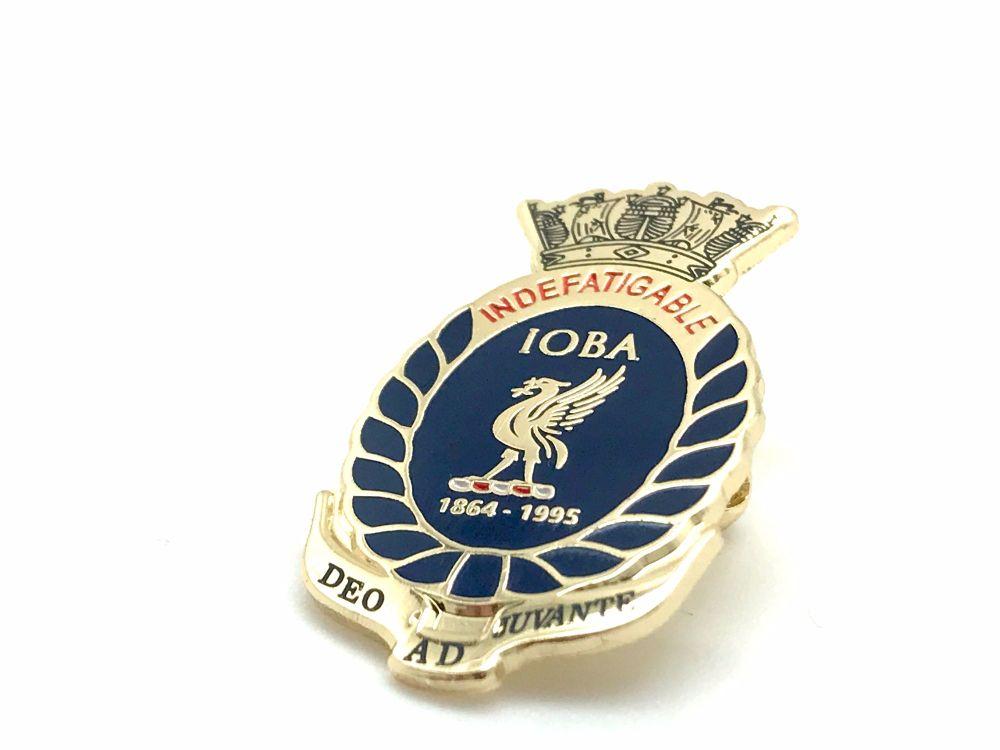 Indefatigable Old Boys Association original lapel badge (catch) collected f