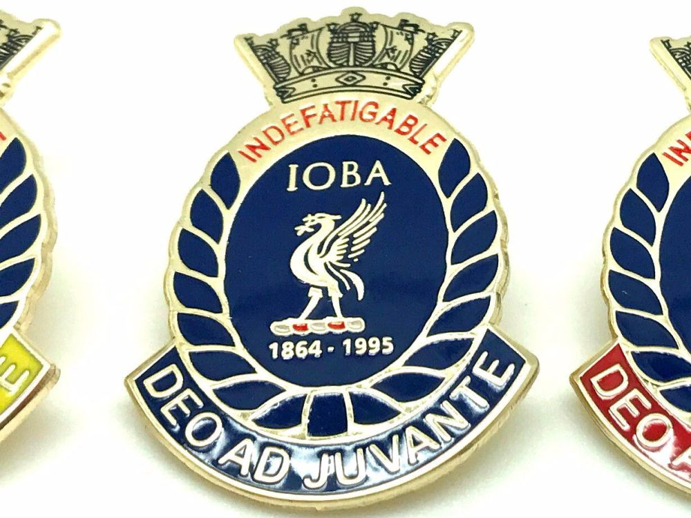 Indefatigable old boys association divisional badge RALEIGH collected from
