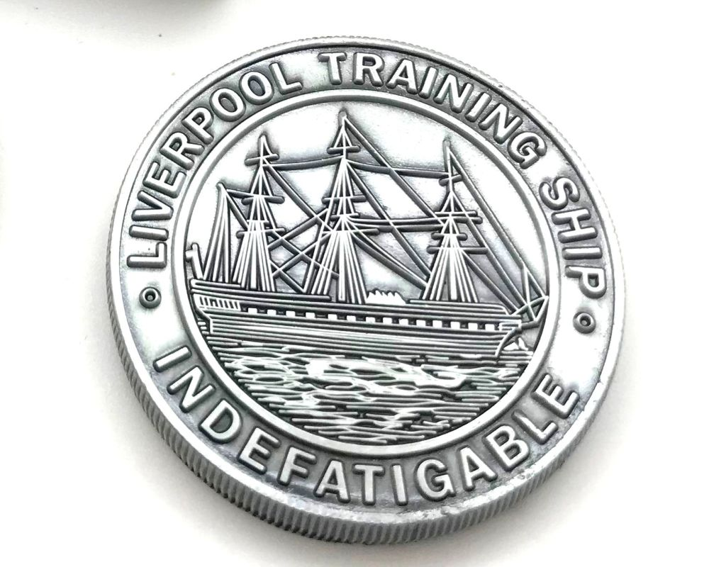 Indefatigable Commemorative Coin indeoba.com(6a)