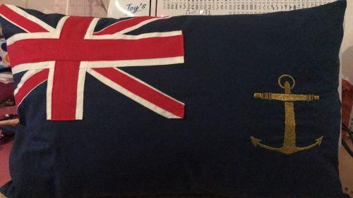 cushion royal fleet auxiliary blue ensign