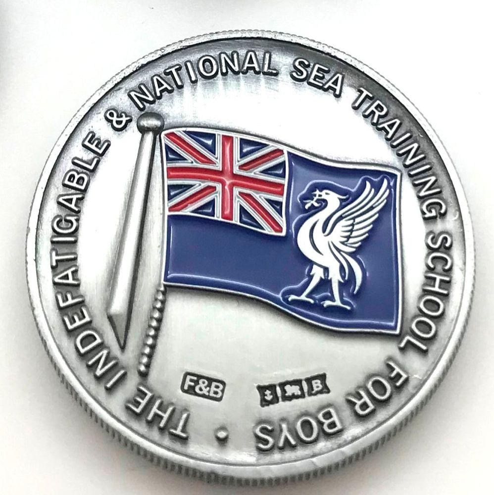 Indefatigable coin/medal Commemorative box set Antique Nickel plate
