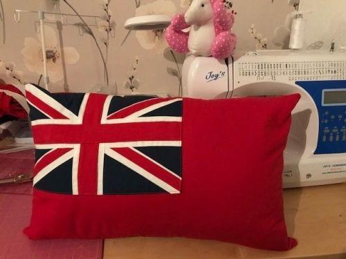 cushion merchant navy red ensign