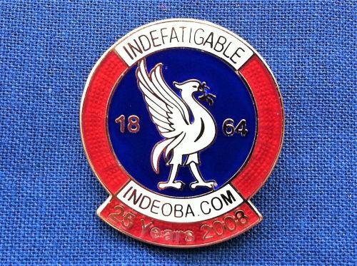 Indefatigable OBA 25 year badge posted UK