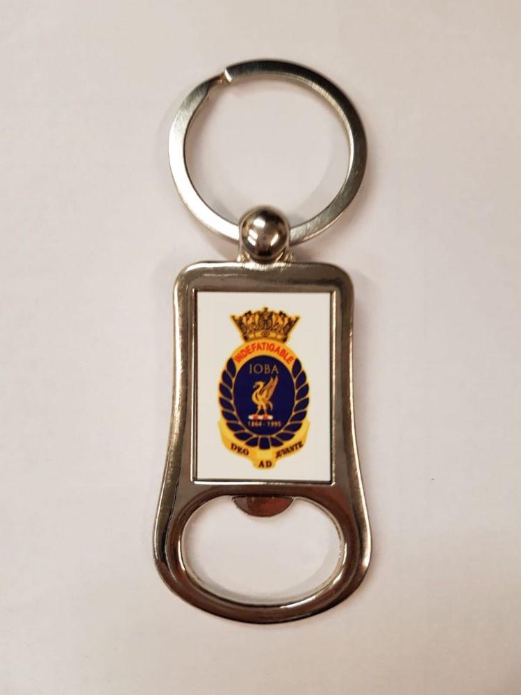 Bottle Opener Key Ring Indefatigable Old Boys Association Metal collected