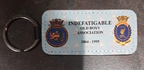 Key Ring Indefatigable 1864 & IOBA leather collected