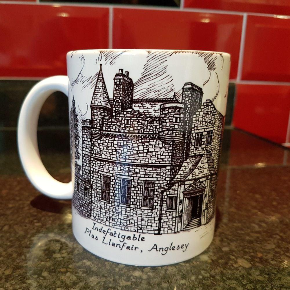 Mug H Indefatigable School line drawing reunion collection