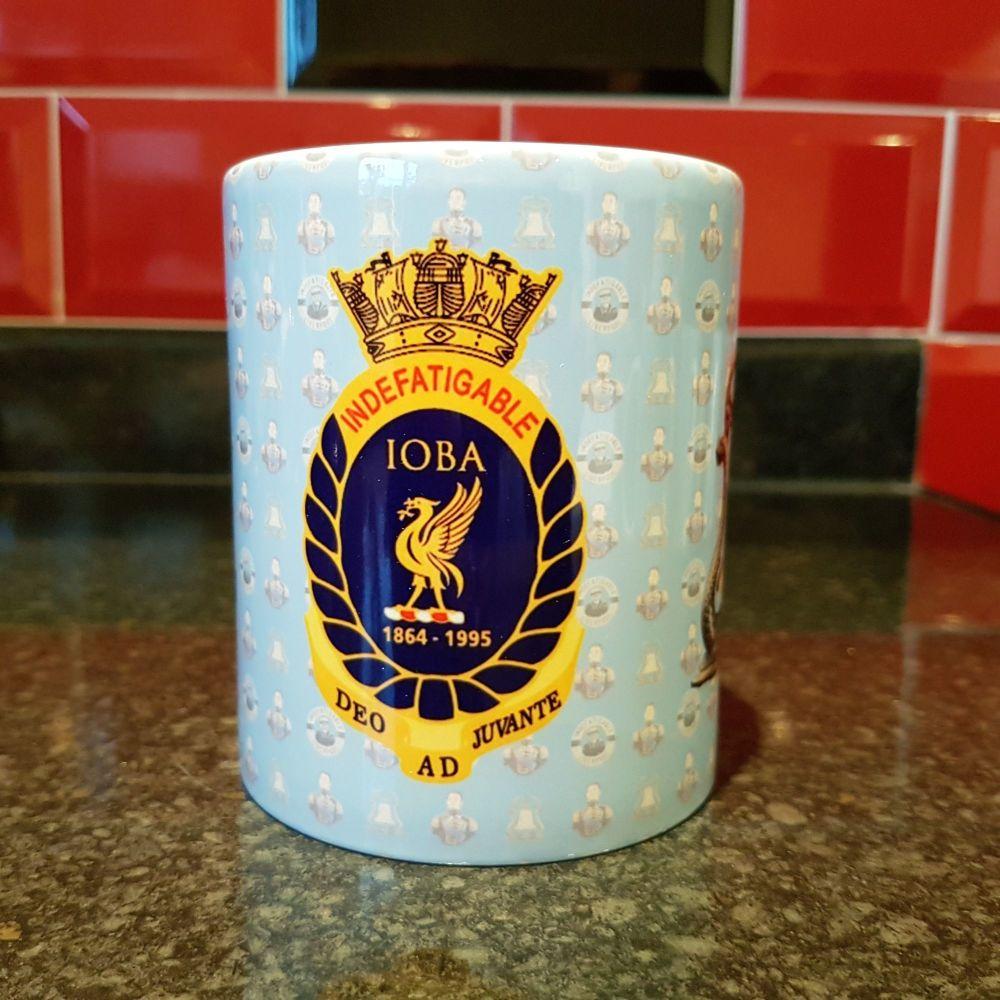 Mug K Indefatigable Bell, IOBA badge & King Billy reunion collection
