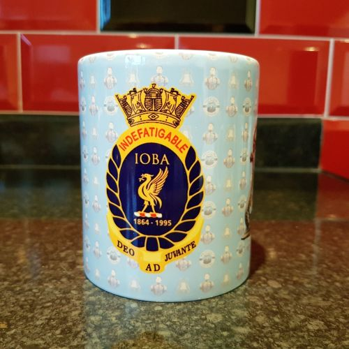 Mug K Indefatigable Bell, IOBA badge & King Billy reunion collection