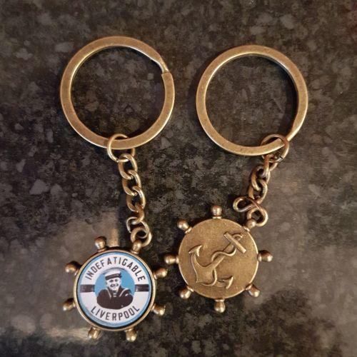 Key Ring Indefatigable Boy lifebelt in Metal helm collected