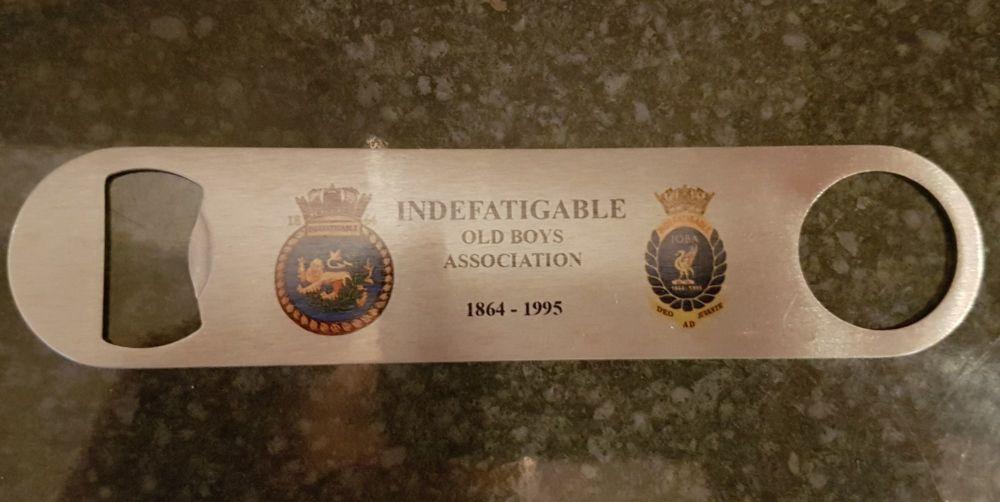 Bar blade Bottle Opener Indefatigable 1864 & IOBA Metal collected