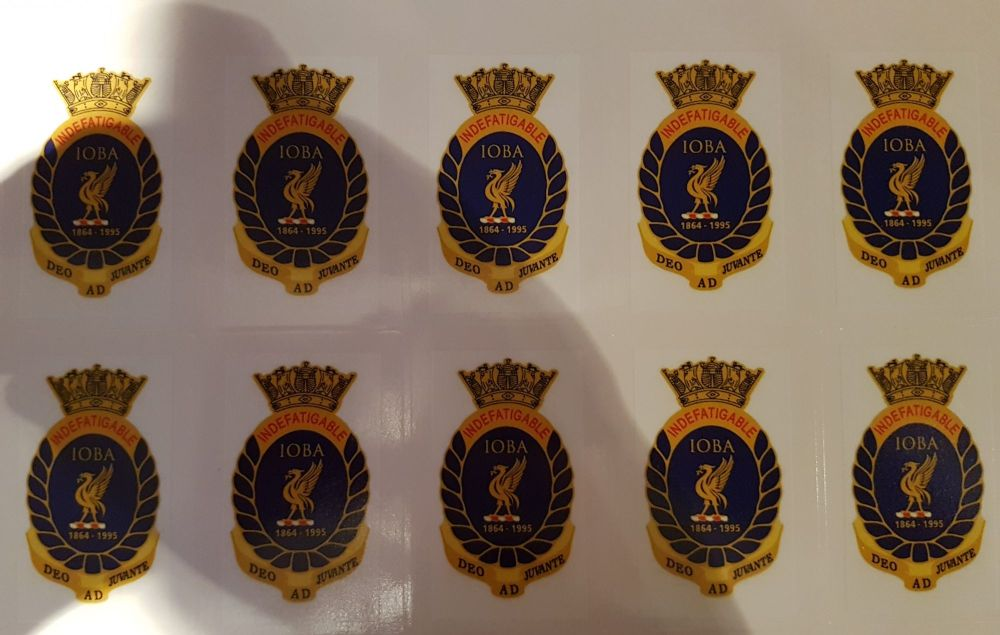 Badge Indefatigable Old Boys Association self adhesive per 10 collected fro