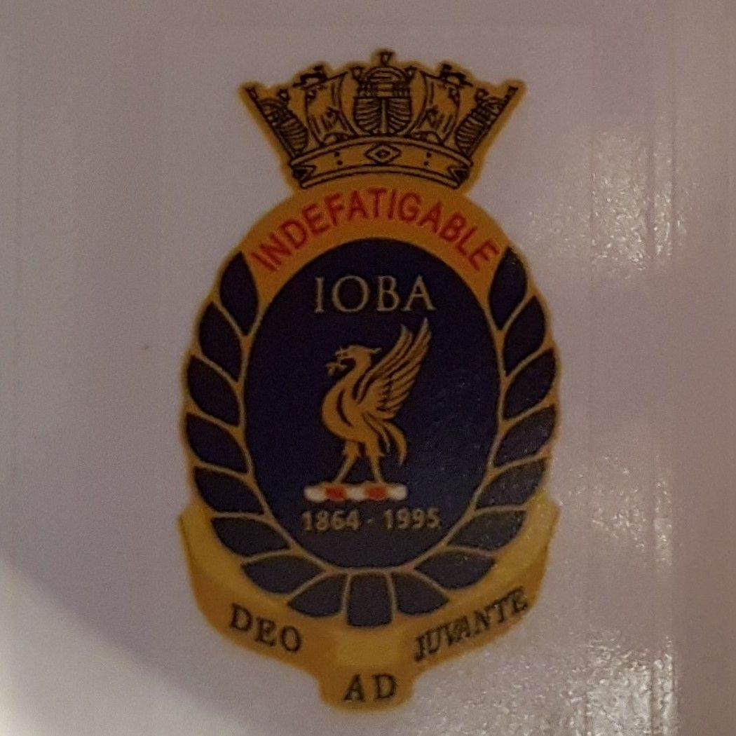 Badge Indefatigable Old Boys Association self adhesive per 1 collected