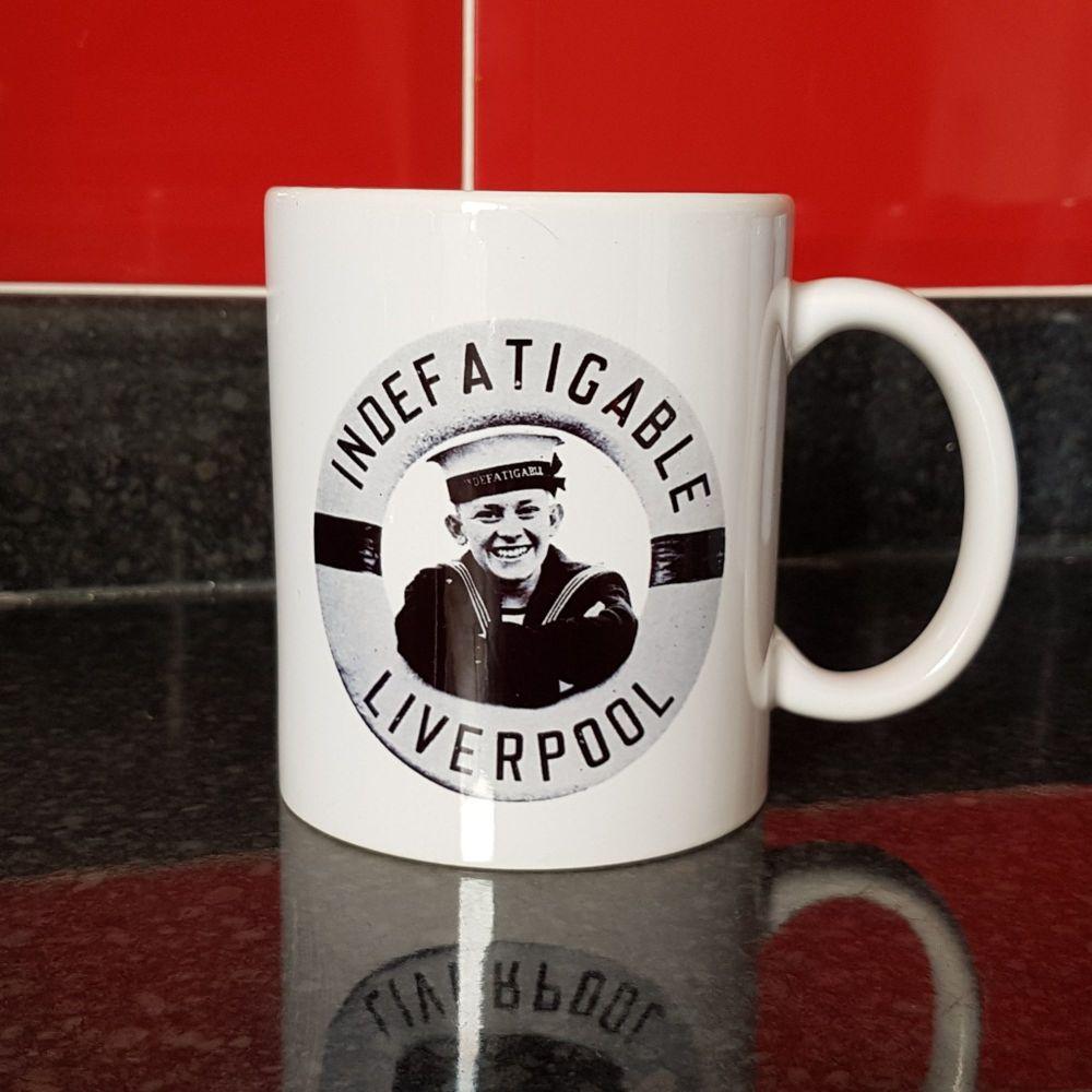 Mug H Indefatigable Liverpool Boy Lifebelt