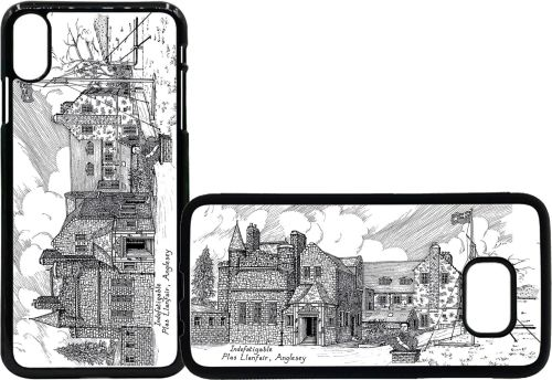Mobile phone case Indefatigable school black and white pic