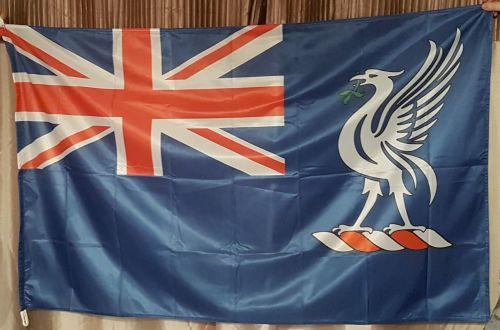 training ship indefatigable blue ensign 3' x 1'6