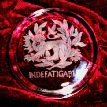 INDEFATIGABLE PAPERWEIGHT 020