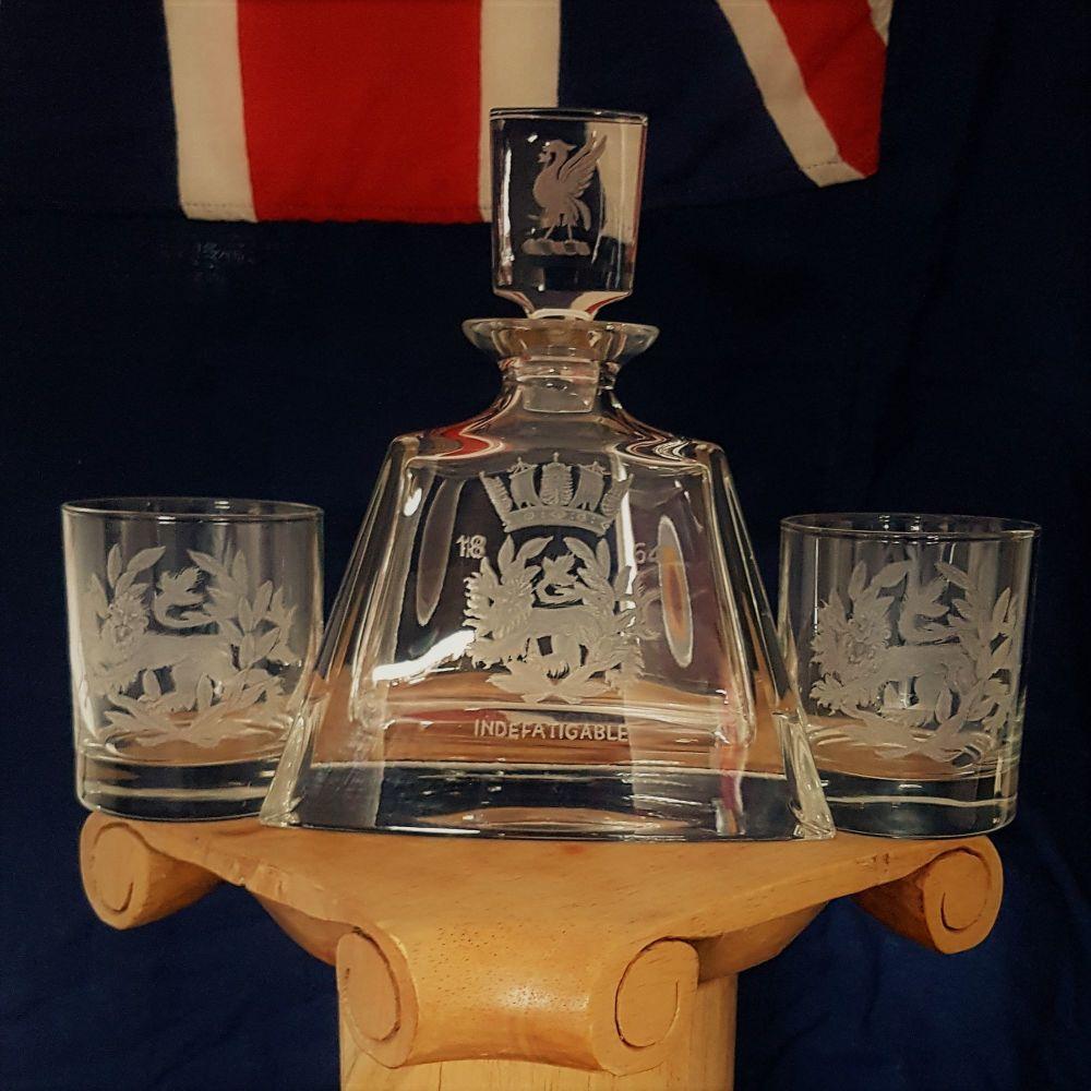 Indefatigable decanter set delivered to USA