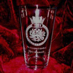 indefatigable reunion pint glass