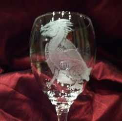 DRAGON 1 WINE GLASS