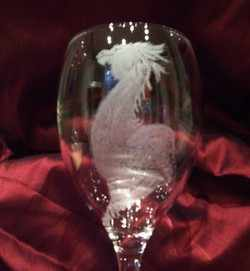 dragon 3 wine glass