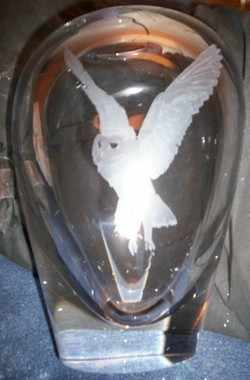 OWL ON DARTINGTON CRYSTAL 3