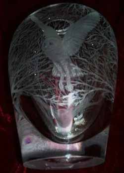 DARTINGTON CRYSTAL OWL STAGE 4