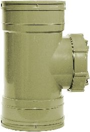 Olive Grey 110mm Solvent Access Pipe Coupling
