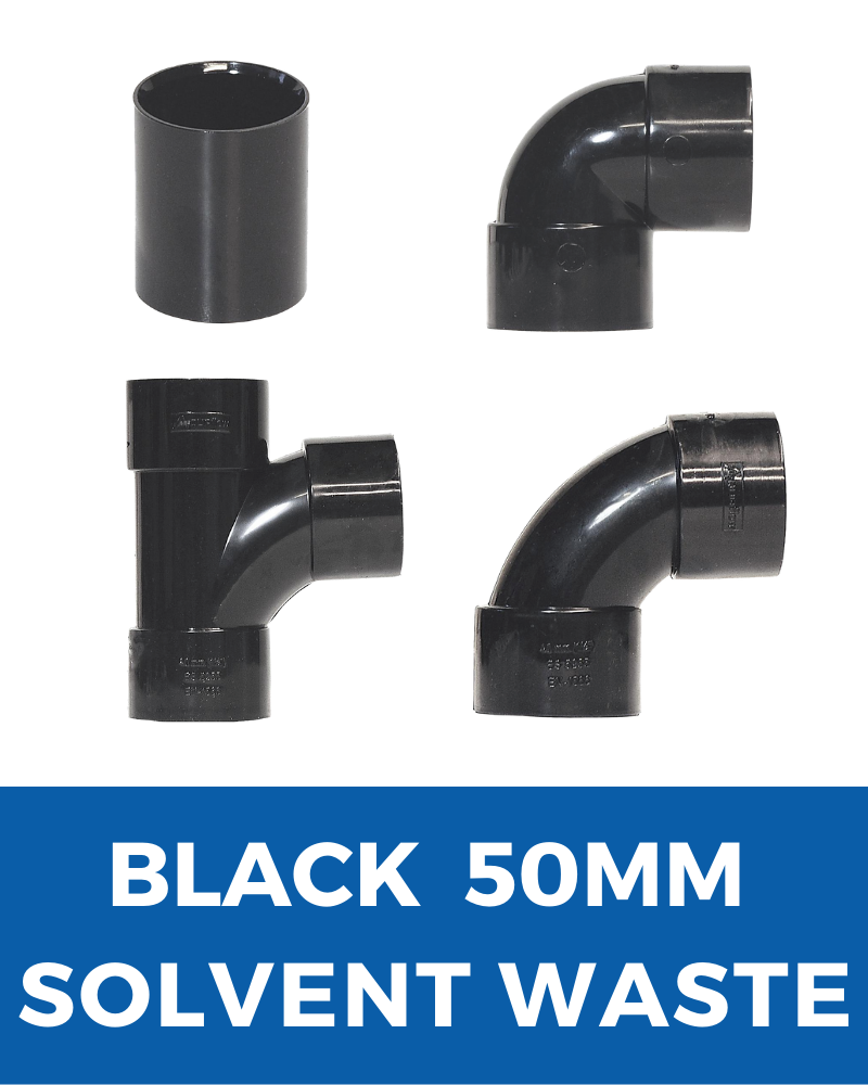 Black Aquaflow Solvent Waste 50mm