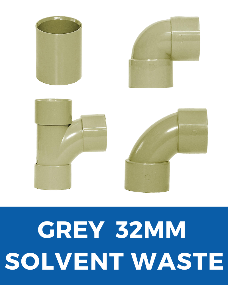 Grey Aquaflow Solvent Waste 32mm