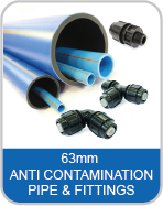 63mm MDPE Anti Contamination Pipe & Fittings