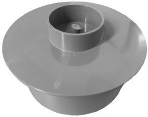 160mm Socket Plug Pushfit Grey