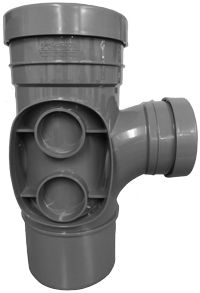 160mm x 110mm Branch 90' Spigot Socket Pushfit Grey