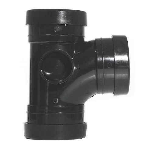 Black 110mm Push Fit 92.5 Branch Triple Socket