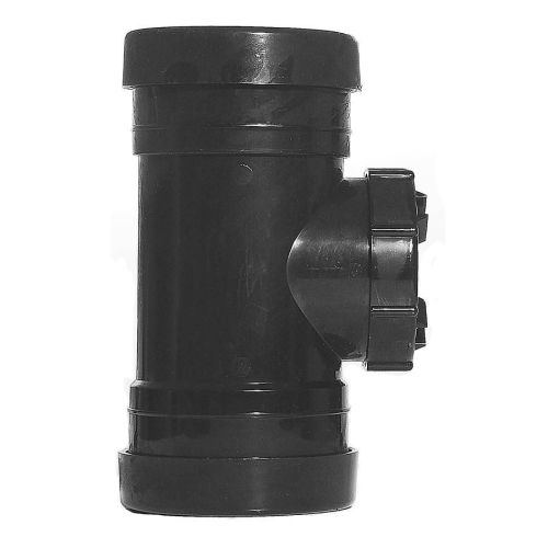 Black 110mm Push Fit Access Pipe Coupling