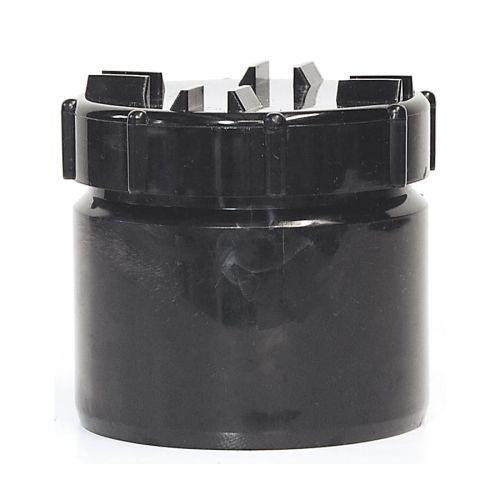 Black 110mm Solvent Access Plug with Screw Cap