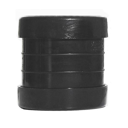 160mm Double Socket Coupling Pushfit Black