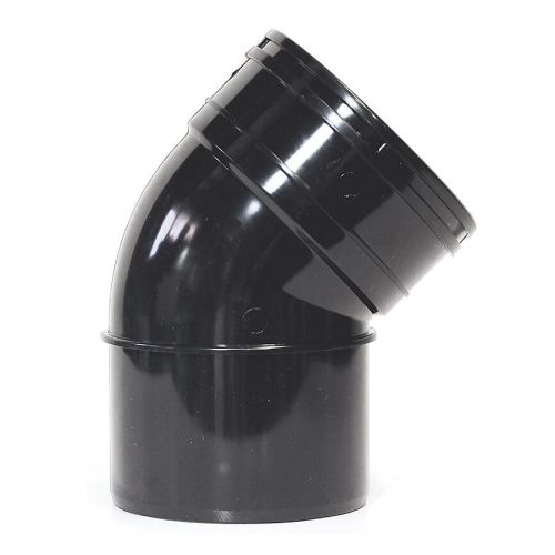 Black 110mm Solvent 135 Single Socket Bend 110mm Solvent