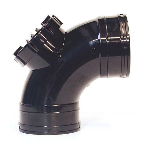Black 110mm Solvent Access Door Bend Double Socket 110mm Solvent