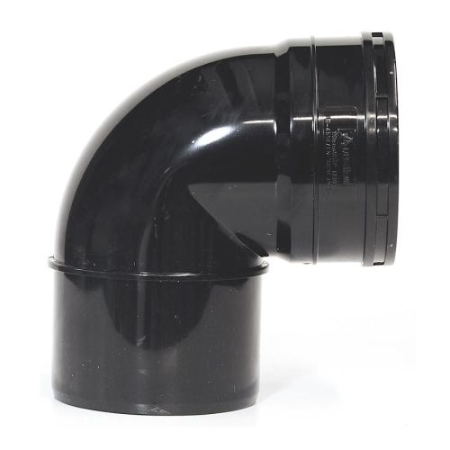 Black 110mm Solvent Knuckle Bend Single Socket