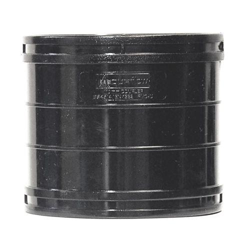 Black 110mm Solvent Soil Coupling