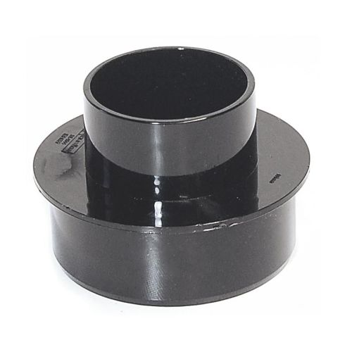 Black 110mm to 68mm Round Rain/Soil Adaptor