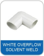 4B White Overflow Pipe & Fittings