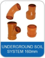 5A Underground Pipe & Fittings 160mm