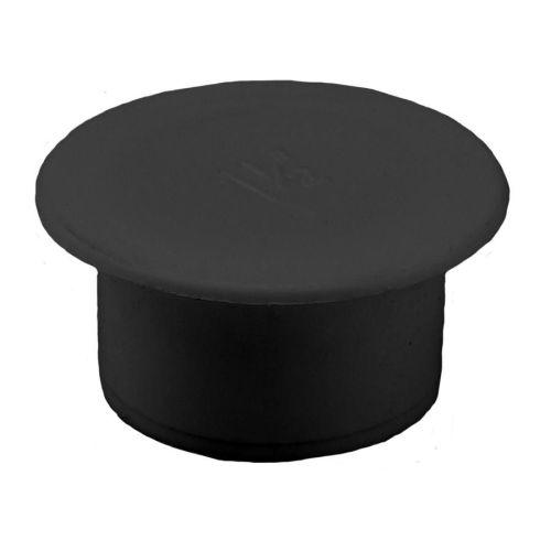 Black 40mm Push Fit Waste Socked Plug